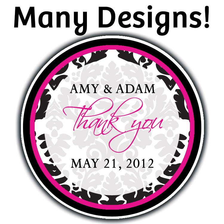 20 round custom favor stickers labels wedding shower personalized
